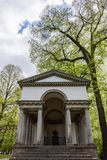 Greco-Roman Temple in Forest Stock Images