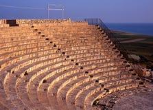 Greco-Roman theatre, Kourion, Cyprus. The Greco-Roman Theatre at the edge of the sea, Kourion, Near Limassol, Cyprus Stock Image