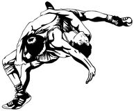 Greco-Roman wrestling Stock Images