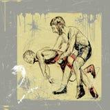 Greco roman wrestling Stock Image