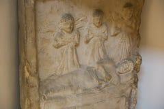 Greco-romare gravsten på det egyptiska museet Arkivfoto