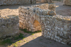 Greco rzymskie ruiny Emporda Zdjęcia Royalty Free