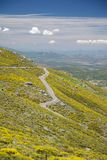 Gredos mountains rural road Royalty Free Stock Image
