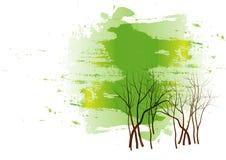 Gree森林背景,传染媒介例证 免版税库存照片