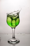 A gree cup of glass Royalty Free Stock Image