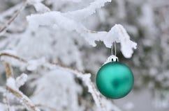 Gree e bianco di Natale Fotografia Stock Libera da Diritti