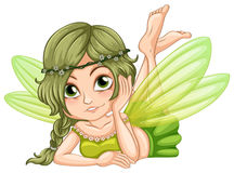 Gree fairy. Illustration of a green fairy Royalty Free Stock Photo