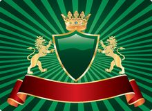 Gree lion label Royalty Free Stock Photos