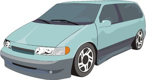 Gree Van. Very realistic car illustration. Full of details Royalty Free Stock Photos