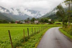 Gree Wiejska scena w Norwegia i bujny fotografia stock