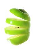 Greean Apple που τεμαχίζεται Στοκ εικόνα με δικαίωμα ελεύθερης χρήσης