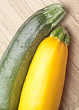 Greean and Golden Yellow Zucchini Squash Royalty Free Stock Photo