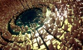 greeble miasta jezioro ilustracji