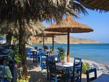 greec εστιατόριο Στοκ Φωτογραφίες