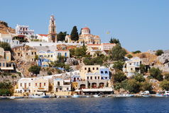 Greece.The-ö av Symi. Royaltyfri Bild
