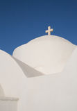 Greece. White greek church with blue sky Royalty Free Stock Photos