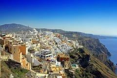 The Greece. Santorini island during the spring Royalty Free Stock Photos