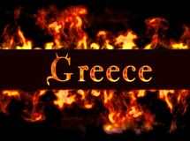 Greece. Greece with framework of fire Royalty Free Stock Photography