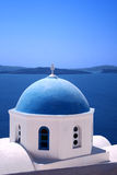 Greece. Traditional greek orthodox church from Santorini Island - Greece Stock Images