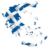 Greece. Vector illustration of a map and flag from Greece Stock Photo