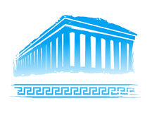 Greece. Abstract Greece Design in the Blue, White Background Royalty Free Stock Photos