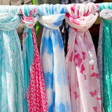 In  greece  accessory colorfull scarf and headscarf old market n Stock Photos