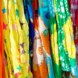 in  greece  accessory colorfull scarf and headscarf old market n Royalty Free Stock Images