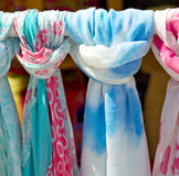 in  greece  accessory colorfull scarf and headscarf old market n Royalty Free Stock Image