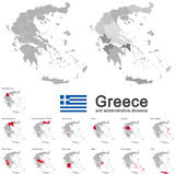 Greece and administrative divisions Stock Photos