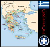 Greece Administrative divisions Stock Image