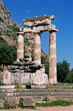 Greece, Afina temple, Delphi. Stock Photography