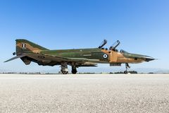 Greece air force F4 Phantom fighter aircraft Royalty Free Stock Image