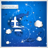 Greece air travel abstract background Stock Photography