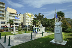Greece, Alexandroupolis. Alexandroupolis, Greece - September 18, 2016: Monument of Domna and Chatzi Antonis Bisbizi, freedom fighters in 19th century Stock Photo