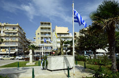 Greece, Alexandroupolis. Alexandroupolis, Greece - September 18, 2016: Monument of Domna and Chatzi Antonis Bisbizi, freedom fighters in 19th century Royalty Free Stock Photo