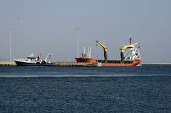 Greece, Alexandroupolis, ships Stock Images