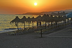 Greece,Alexandroupolis. Greece, sundown on beach in Alexandroupolis Stock Image