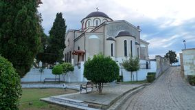 Greece also with simplicity out the filling the church Stock Photo