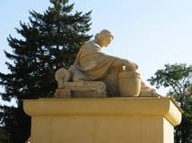 Greece antique women monument statue figure photo.  Stock Photography