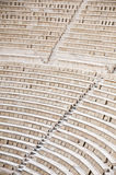 Greece aphitheather. In ancient Athens ruins stone Royalty Free Stock Photo