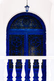 Greece, arched door with ornaments Royalty Free Stock Photo