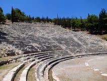 Greece, Argos, ancient amphitheater stock photo