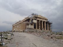 Greece Athens acropolis. Panorama view theater Stock Photos