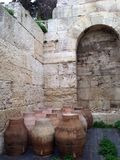 Greece Athens acropolis. Travel education history cave water Stock Images