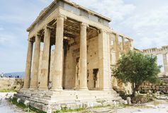 Historical monuments and temples in European capitals. Ruins and attractions, a trip to Europe. Greece, Athens, April 2018. Architecture of ancient Greece stock images