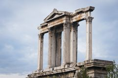 Greece, Athens. Arch of Hadrian. Royalty Free Stock Photo