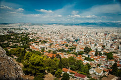 Greece, Athens, August 2016, The Acropolis of Athens, ancient citadel located on an extremely rocky outcrop above the city of Athe. Ns Royalty Free Stock Photo