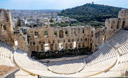 GREECE, ATHENS - MARCH 29, 2017: Odeon of Herodes Atticus. The Odeon of Herodes Atticus is a stone theatre structure located on the southwest slope of the Royalty Free Stock Image