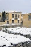 Greece - Athens Snow Storm Stock Photo