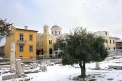 Greece - Athens Snow Storm Royalty Free Stock Photos